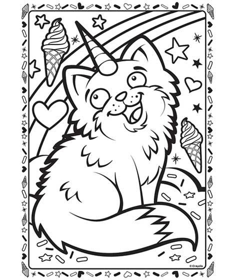 Uni-Kitty Coloring Page | crayola.com