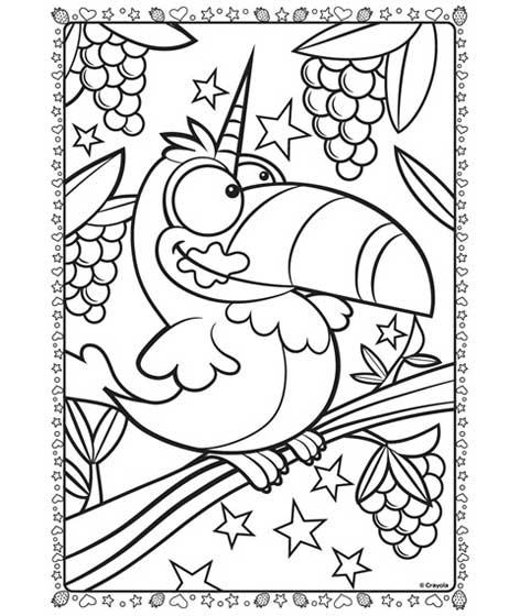 Uni-Toucan Coloring Page | crayola.com