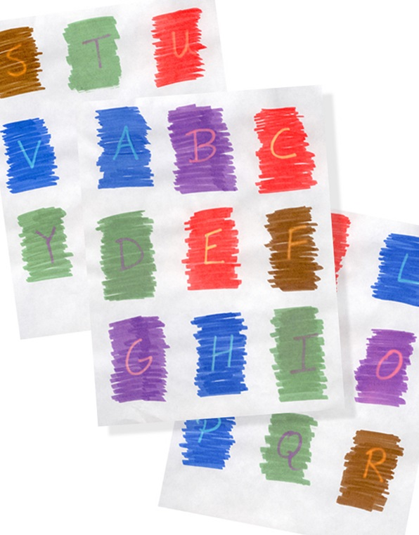 color patch alphabet craft