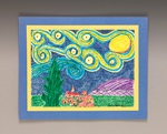 Draw a Twist on Starry Night craft