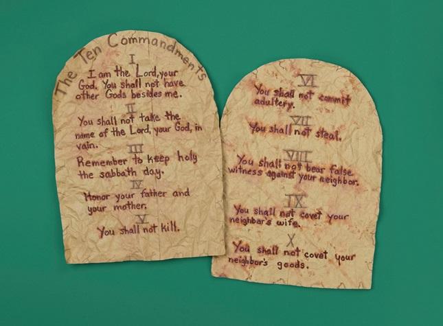 Ten Commandments Tablets Craft Crayola Com