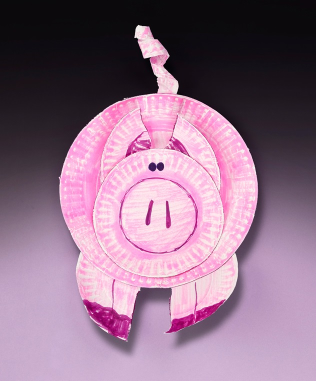 Perky Paper Plate Pig Craft Crayola