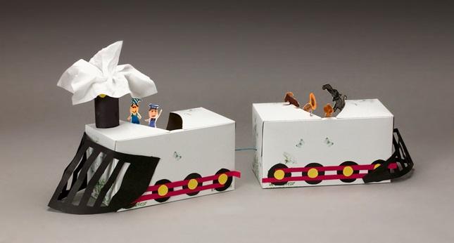 tissue box train craft