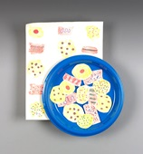 Plate of Paper Cookies craft