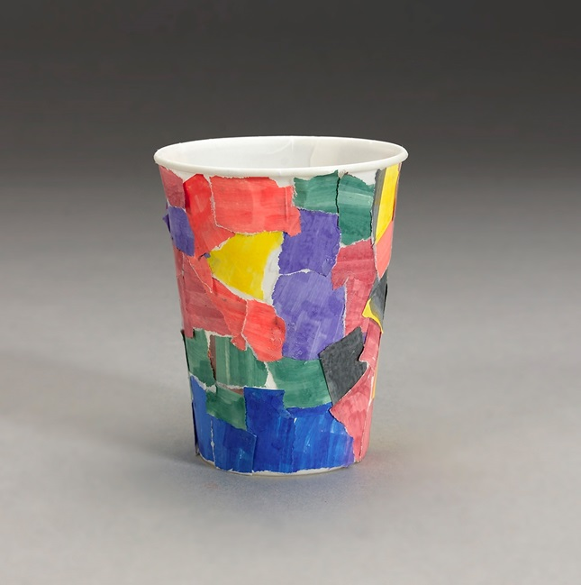 Magical Mosaic Cup craft