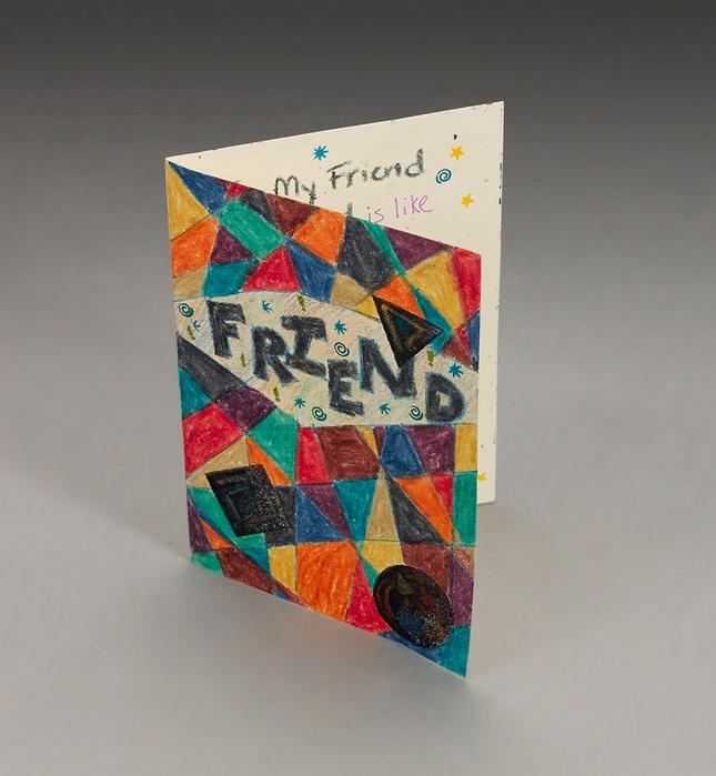 Friendship Card Craft Crayola Com