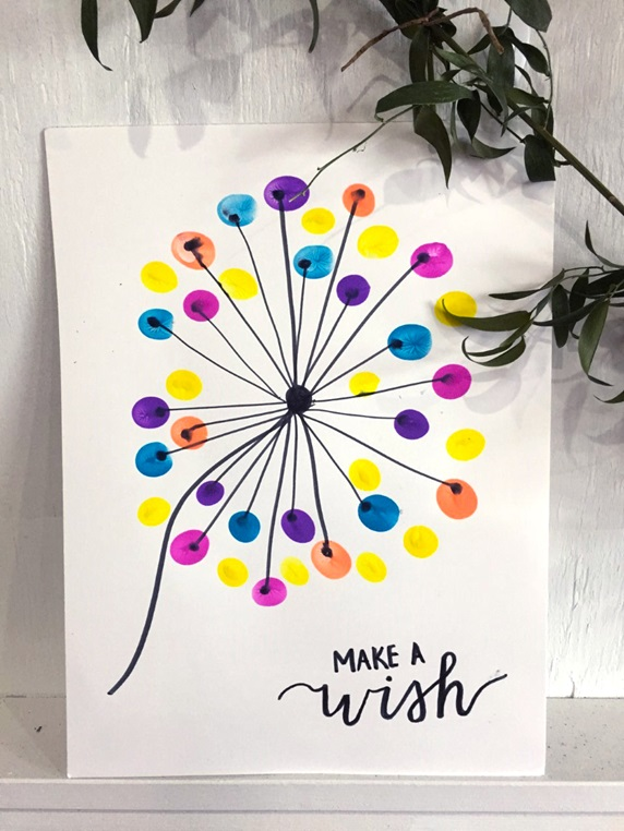 Thumbprint Dandelion Art Craft Crayola Com