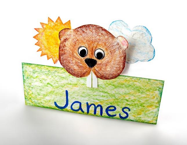Groundhog Day Nameplate