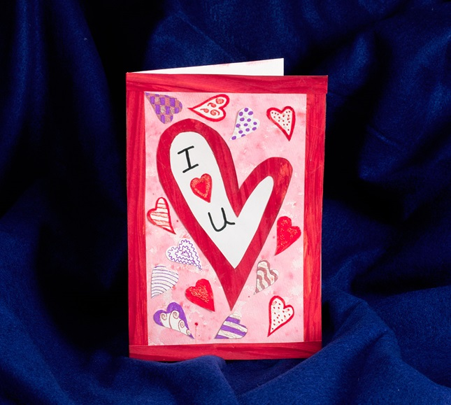 Pop-Art Heart Card lesson plan