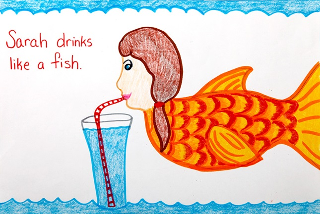 Idiom Illustrations Crayola