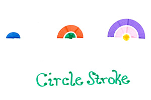 Rainbow Connector Markers - Circle Stroke
