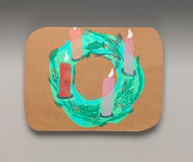 Advent Wreath Placemat Craft Crayola Com