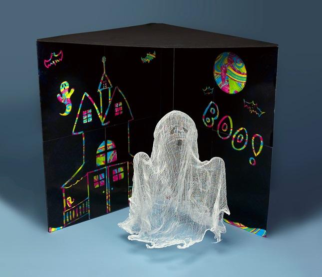 Gauzy Ghost Halloween Decoration Craft Crayola Com