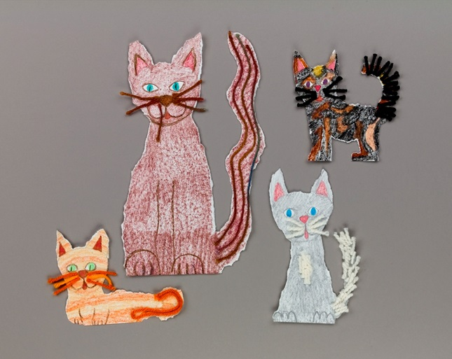 Playful Cat Family Craft Crayola Com