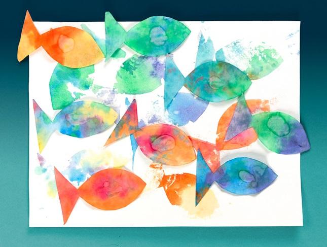 Pop Up Fish Prints Craft Crayola Com