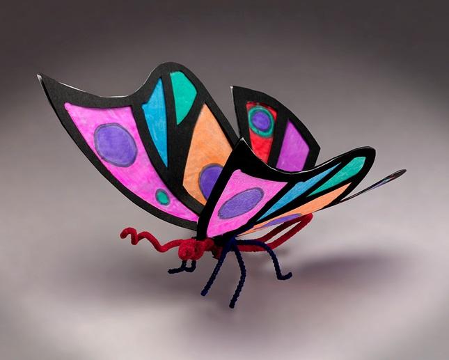 Rainforest butterfly craft