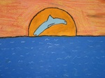 Dolphins At Sunset artwork