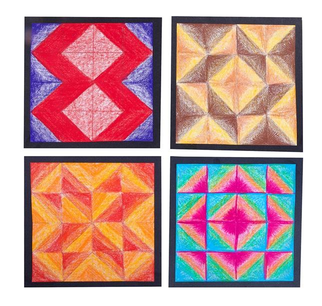 Geometric Quilt Blocks crayola.com