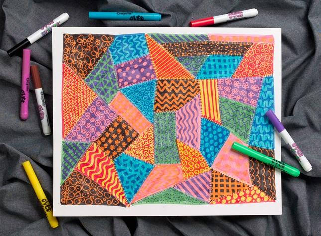 Patchwork Quilt Crayola Com