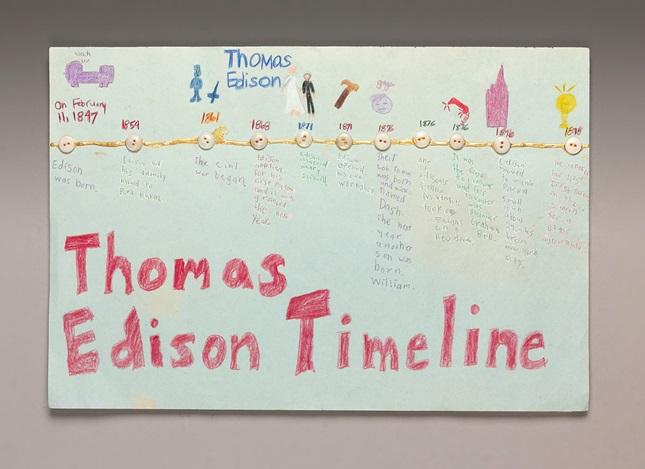 Thomas Edison Timeline crayola