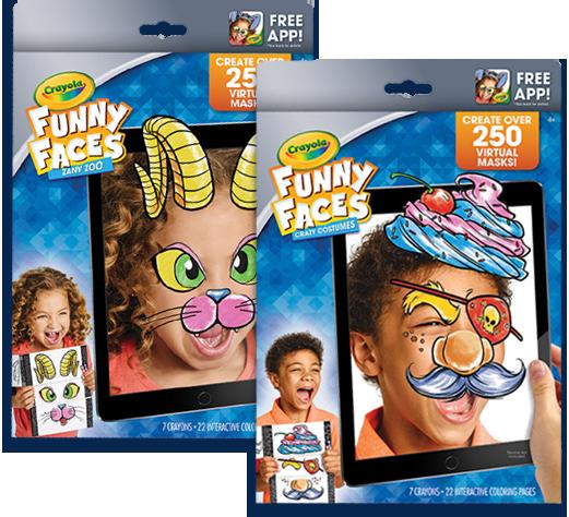 funny faces coloring book free app crayola com