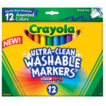 Ultra Clean Washable Markers Broad Line 12 count