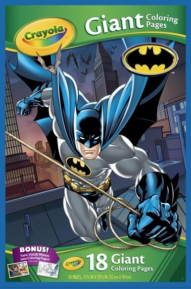 Giant Coloring Pages Marvel Batman