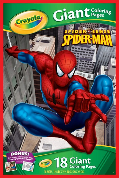 Marvel Spider Sense Spider-Man Giant Coloring Pages