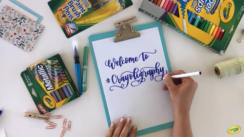 Crayoligraphy crayola