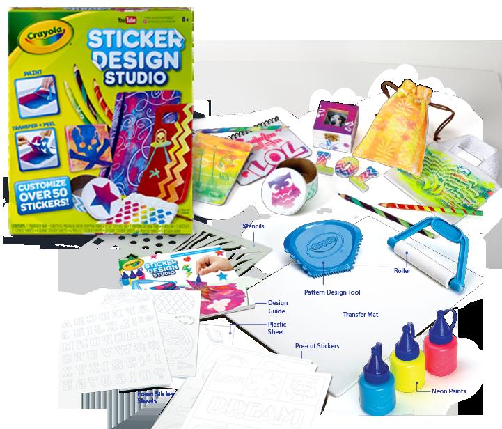 Sticker design stuido box contents