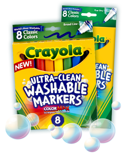 New Crayola Ultra-Clean Washable Markers