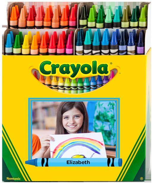 customized 64 crayon box