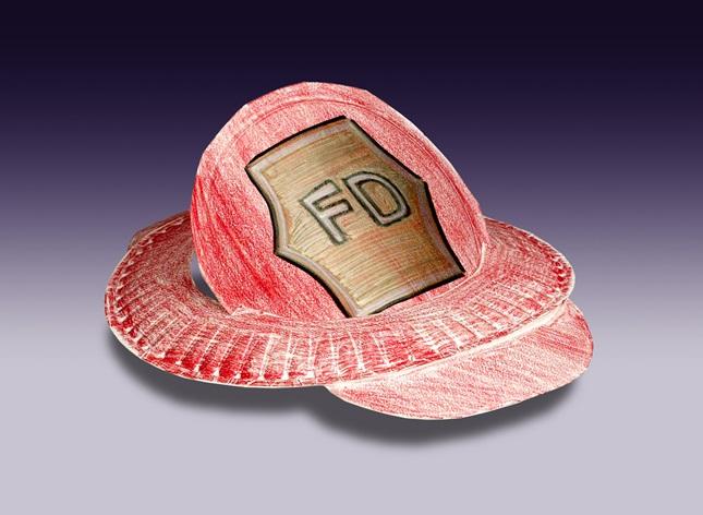 preschool firefighter hat craft