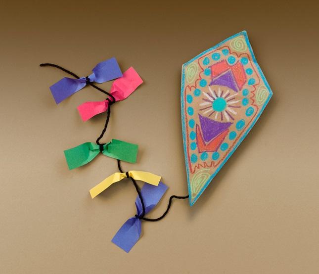 quick colorful kites craft crayola com