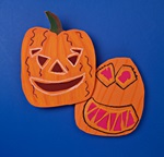 Giggling, Glowing Ghoulies craft