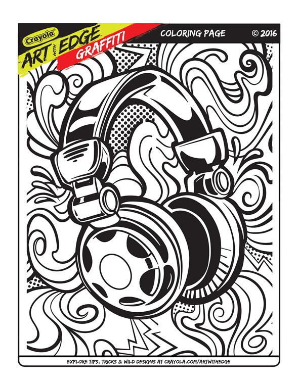 art with edge graffiti coloring page crayolacom - Graffiti Coloring Book