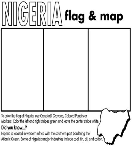 Nigeria Coloring Page
