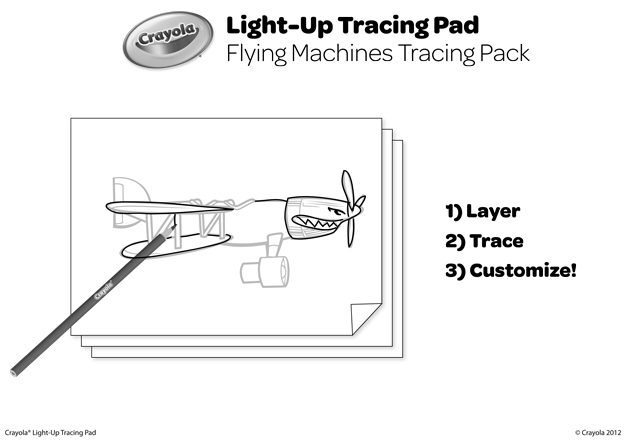 Flying Machines Tracing Pack Coloring