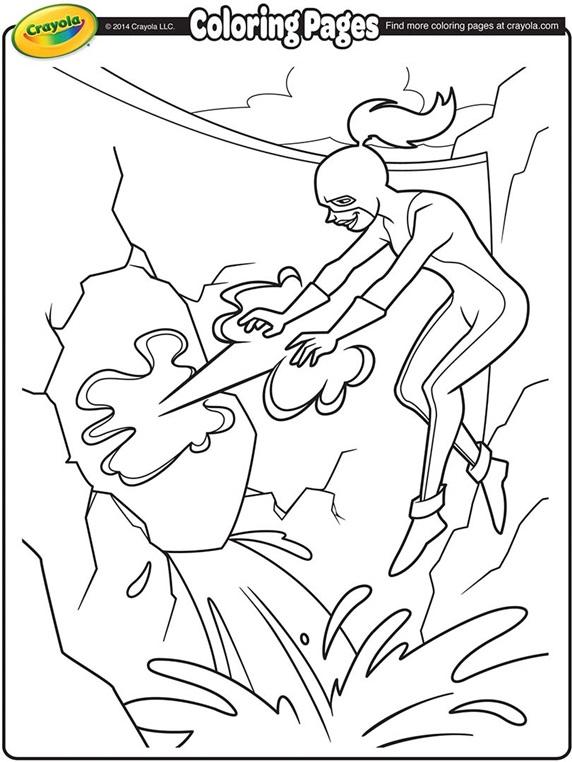 super hero girl super hero coloring page - Super Heroes Coloring Book