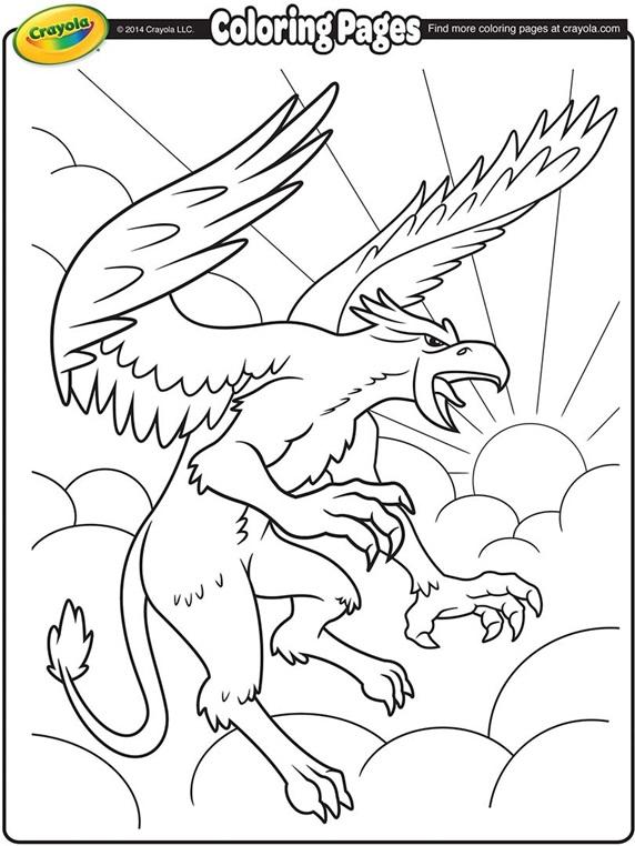 Griffon Coloring Page Crayola Com Color Alive Pages