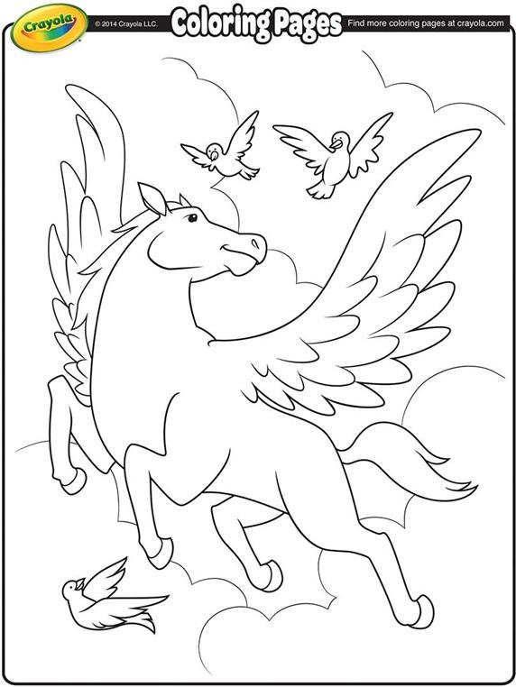 Pegasus Coloring Page | crayola.com