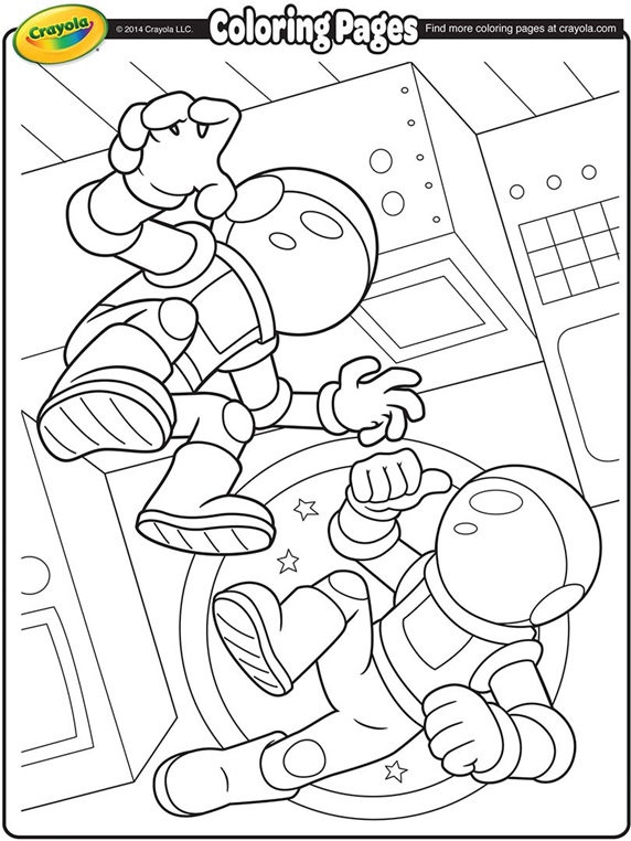 space coloring pages free - photo#18