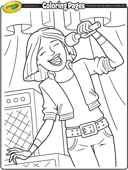 Lead Singer Coloring Page crayola