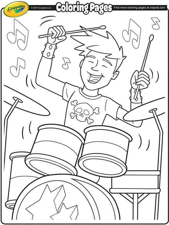 Drummer Coloring Page Crayola Com