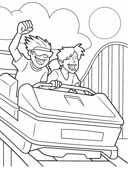 Roller Coaster Ride Coloring Page   crayola.com