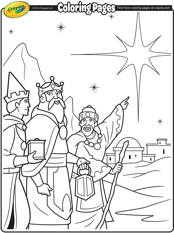 Three Kings Coloring Page crayola