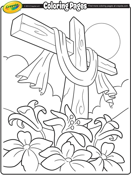 Easter Cross Coloring Page crayolacom