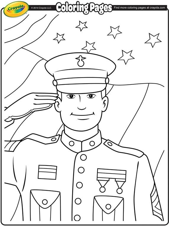 Veterans Day Soldier Coloring Page | crayola.com