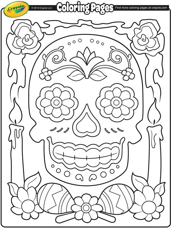 Dia De Los Muertos Coloring Pages Cool Dia De Los Muertos Coloring Page  Crayola Design Decoration