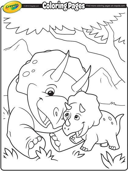 Triceratops Coloring Page crayolacom